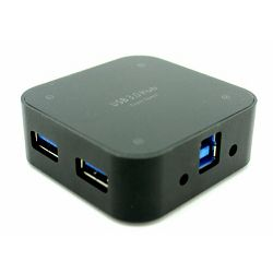 Asonic USB 3.0 4Port Hub, metal.kuć.+5V nap.(220V)