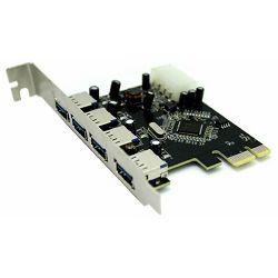 Asonic PCIE USB 3.0, 4 porta do 5Gbps