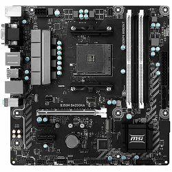 MSI Main Board Desktop B350 (SAM4, 4xDDR4, PCI-Ex16, 2xPCI-Ex1, USB3.1, USB2.0, 4xSATA III, M.2, Raid, DVI-D, HDMI, GLAN) mATX Retail