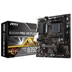 MSI Main Board Desktop B350 (SAM4, 2xDDR4, PCI-Ex16, 2xPCI-Ex1, USB3.1, USB2.0, 4xSATA III, M.2, Raid, VGA, DVI-D, GLAN) mATX Retail