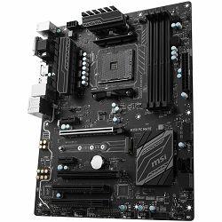 MSI Main Board Desktop B350 (SAM4, 4xDDR4, 2xPCI-Ex16, 2xPCI-Ex1, 2xPCI, USB3.1, USB2.0 ,4xSATA III, M.2, Raid, VGA, DVI-D, HDMI, GLAN) ATX Retail