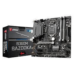 MSI Main Board Desktop H360 (S1151, DDR4, USB3.1, USB2.0, SATA III,M.2, HDMI, DVI-D - Requires Processor Graphics, 8-Channel(7.1) HD Audio with Audio Boost, Realtek 8111H Gigabit LAN) mATX Retail