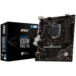 MSI Main Board Desktop B360 (S1151, DDR4, USB3.1, USB2.0, SATA III,M.2, DVI-D, VGA - Requires Processor Graphics, 8-Channel(7.1) HD Audio with Audio Boost, Realtek 8111H Gigabit LAN) mATX Retail