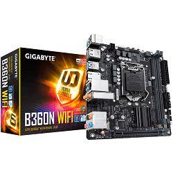 Gigabyte Main Board Desktop B360 (S1151, 2xDDR4, 2xHDMI, 1xPCIex16, Intel i219V + i211AT, WIFI, 4xSATA III, M.2, USB 3.1, USB 2.0) Mini-ITX retail