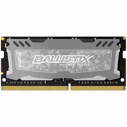 Crucial DRAM 16GB DDR4 2400 MT/s (PC4-19200) CL16 DR x8 Unbuffered SODIMM 260pin Ballistix Sport LT DDR 4 SODIMM - Grey, EAN: 649528777065