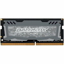 Crucial DRAM 16GB DDR4 2666 MT/s (PC4-21300) CL16 DR x8 Unbuffered SODIMM 260pin Ballistix Sport LT DDR 4 SODIMM - Grey, EAN: 649528782311
