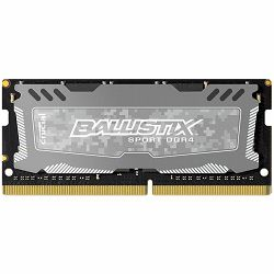 Crucial DRAM 8GB DDR4 2400 MT/s (PC4-19200) CL16 DR x8 Unbuffered SODIMM 260pin Ballistix Sport LT DDR 4 SODIMM - Grey, EAN: 649528777058