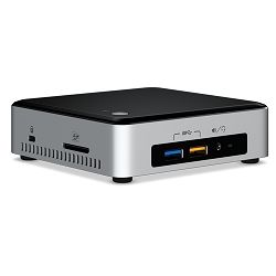Intel NUC kit, i5-6260U, 2x DDR4 SODIMM (max 32GB), M.2 SSD (42/80mm), Intel 4K HD Graphics 540 (mDP + HDMI), SDXC slot, 7.1 Audio via HDMI/mDP, Combo Jack, (2+2)xUSB 3.0, LAN GbE, IR frontpanel, WiFi