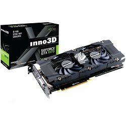 Inno3D Video Card  GeForce iChill GTX 1070 Ti V2(1607Mhz/8.0Gbps) / 8GB GDDR5 / 256-bit / Dual DVI + DP + HDMI / VA12U / GP104F8532