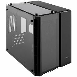 Corsair Crystal Series 280x Tempered Glass Micro ATX PC Case, Black