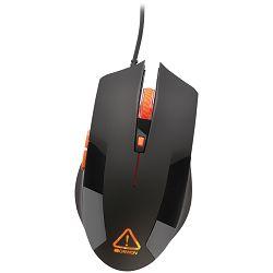 Optical gaming mouse, adjustable DPI setting 800/1200/1600/2400, LED backlight, Black