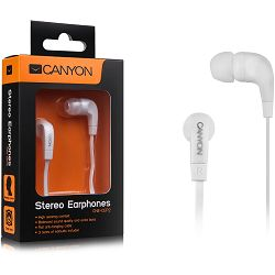 Canyon essential earphones, flat anti-tangling cable, white