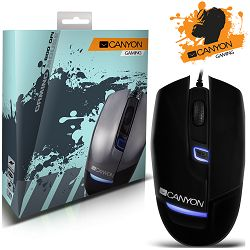 CANYON Gaming Mouse CND-SGM4 (Wired, Optical 800/1200/1600 dpi, 125Hz, 4000 fps, 15g, 4 btn, USB), Black