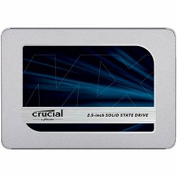 "CRUCIAL MX500 500GB SSD, 2.5"" 7mm (with 9.5mm adapter), SATA 6 Gbit/s, Read/Write: 560 MB/s / 510 MB/s, Random Read/Write IOPS 95K/90K"