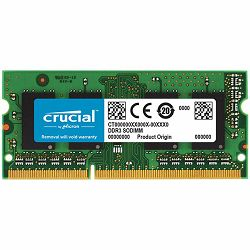 CRUCIAL 8GB DDR3L 1600 MT/s  (PC3-12800) CL11 SODIMM 204pin 1.35V/1.5V for Mac