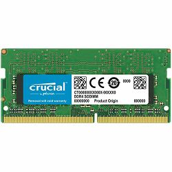 Crucial DRAM 8GB DDR4 2400 MT/s (PC4-19200) CL17 DR x8 Unbuffered SODIMM 260pin, EAN: 649528774897