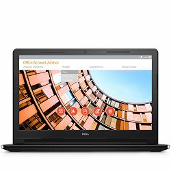 DELL Notebook Inspiron 3558 15.6 HD (1366 x 768), i3-5005U (3M, 2.00 GHz), 4GB, 500GB, Intel HD 5500, DVDRW, WiFi, BT, RJ-45, WiDi, HDCam, Mic, 1xUSB 3.0, 2xUSB 2.0, HDMI, CR,  Linux, Black, 2Y