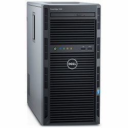 DELL EMC PowerEdge T130, Intel Xeon E3-1220 v6 3.0GHz, 8M cache, 4C/4T, turbo (72W), up to 4 x 3.5 cabled HDD, 8GB UDIMM, 2400MT/s, 1TB 7.2K RPM SATA 6Gbps 3.5in Cabled HDD, PERC H330, DVDRW, On-Boa