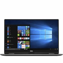DELL Notebook XPS 9365 2-in-1 13.3in QHD+(3200 x 1800)TOUCH, Intel Core i7-7Y75(4M cache, up to 3.6 GHz), 16GB, 512GB SSD, Intel HD 615, WiFi, BT, HD Cam, Mic, USB-C 3.1/DP, USB-C THB 3, Cardread., Ba