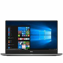 DELL Notebook XPS 15 9560 15.6FHD (1920x 1080), Intel Core i7-7700HQ Quad (6M, up to 3.8 GHz), 8GB, 256 SSD, GeForce GTX1050 4GB, noDVD, WiFi, BT, WiDi, HDcam, Mic, 2xUSB 3.0 PWS,USB-C PWS, HDMI, CR