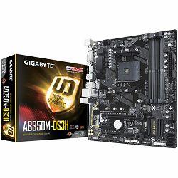 GIGABYTE Main Board Desktop AMD B350 (SAM4, 4xDDR4, Realtek ALC887, 1x10/100/1000 Mbit, 1xPCIEX16, 1xPCIEX4, 1xPCIEX1, 1xM.2, 4xSATA 6Gb/s, RAID, 1xPS/2, 1xHDMI, 1xDVI-D, 2xUSB3.1Gen1, 4xUSB2.0) mATX,