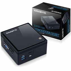 GIGABYTE BRIX kit Intel Braswell N3160, DDR3L SODIMM max 8GB, 2.5inch HDD/SSD slot, SD card slot, WiFi+BT