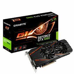 Gigabyte GF GTX1060 G1 GAMING, 3GB GDDR5