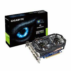 Gigabyte GF GTX750 Ti OC, 2GB GDDR5, DVI, DP