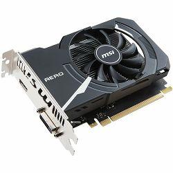 MSI Video Card GeForce GT 1030 OC GDDR5 2GB/64bit, 1265MHz/6008MHz, PCI-E 3.0 x16, HDMI, DVI-D, AERO ITX fan Cooler (Double Slot), Retail