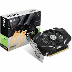 MSI Video Card GeForce GTX 1050 OC GDDR5 2GB/128bit, 1404MHz/7008MHz, PCI-E 3.0 x16, DP, HDMI, DVI-D, Sleeve Fan Cooler (Double Slot), Retail