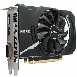 MSI Video Card GeForce GTX 1050 OC GDDR5 2GB/128bit, 1404MHz/7008MHz, PCI-E 3.0 x16, DP, HDMI, DVI-D, Sleeve Fan Cooler (Double Slot), Retail