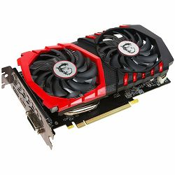 MSI Video Card GeForce GTX 1050 GAMING GDDR5 2GB/128bit, 1366MHz/7008MHz, PCI-E 3.0 x16, DP, HDMI, DVI-D, Twin Frozr VI Cooler (Double Slot), Retail