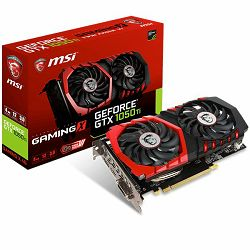 MSI Video Card GeForce GTX 1050 Ti GAMING X GDDR5 4GB/128bit, 1354MHz/7008MHz, PCI-E 3.0 x16, DP, HDMI, DVI-D, Twin Frozr VI Cooler LED(Double Slot), Retail