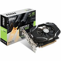 MSI Video Card GeForce GTX 1060 OC GDDR5 3GB/192bit, 1544MHz/8008MHz, PCI-E 3.0 x16, 3xDP, HDMI, DVI-D, Sleeve Fan Cooler (Double Slot), Retail