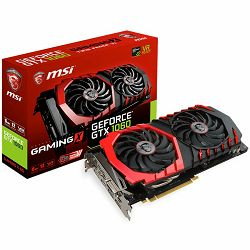 MSI Video Card GeForce GTX 1060 GAMING X GDDR5 6GB/192bit, 1569MHz/8008MHz, PCI-E 3.0 x16, 3xDP, HDMI, DVI-D, Twin Frozr VI Cooler LED(Double Slot), Backplate, Retail
