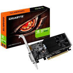 GIGABYTE Video Card GeForce GT 1030 DDR4 2GB/64bit, 1151MHz/2100MHz, PCI-E 3.0 x16, HDMI, DVI-D, Cooler, Low-profile, Retail