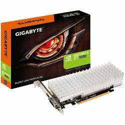 GIGABYTE GT1030 2GB DDR5 GV-N1030SL-2GL, Vidia, PCIE, GPU:1227/1468 / 1252/1506MHz, RAM:6008MHz, 2048MB, DDR5, 64bit,1xDVI, 1xHDMI, LP