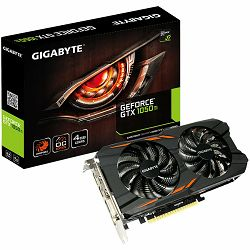 GIGABYTE Video Card GeForce GTX 1050 Ti OC GDDR5 4GB/128bit, 1328MHz/7008MHz, PCI-E 3.0 x16, 3xHDMI, DVI-D, DP, WINDFORCE 2X Cooler (Double Slot), Backplate, Retail