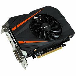 GIGABYTE Video Card GeForce GTX 1060 OC GDDR5 6GB/192bit, 1531MHz/8008MHz, PCI-E 3.0 x16, HDMI, 2xDVI-D, DP, mini-ITX Cooler(Double Slot), Retail