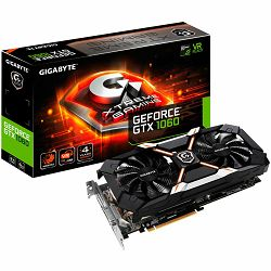 GIGABYTE Video Card GeForce GTX 1060 XTREME GAMING GDDR5 6GB/192bit, 1620MHz/8164MHz, PCI-E 3.0 x16, HDMI, DVI-D, 3xDP, WINDFORCE 2X Cooler RGB (Double Slot), Backplate, Retail