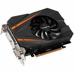 GIGABYTE Video Card GeForce GTX 1070 GDDR5 8GB/256bit, 1531MHz/8000MHz, PCI-E 3.0 x16, HDMI, 2xDVI-D, DP, mini-ITX Cooler(Double Slot), Retail