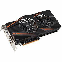 GIGABYTE Video Card GeForce GTX 1070 GDDR5 8GB/256bit, 1556MHz/8008MHz, PCI-E 3.0 x16, HDMI, DVI-D, 3xDP, WINDFORCE 2X Cooler (Double Slot), Retail