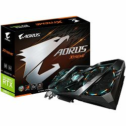 GIGABYTE Video Card NVidia GeForce RTX 2080 Ti AORUS XTREME GDDR6 11GB/352bit, 1770MHz/14140MHz, PCI-E 3.0 x16, 3xHDMI, 3xDP, USB Type-C, WINDFORCE Stack 3X Cooler (Double Slot) RGB Fusion, Metal Back