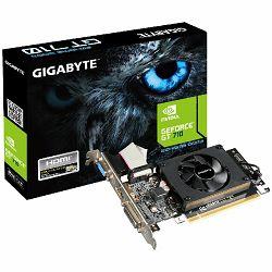 Gigabyte GV-N710D3-2GL, GeForce GT 710, PCI-E 2.0, 2 GB DDR3, 64 bit, Dual-link DVI-D*1 / HDMI*1 / D-Sub*1, 300W
