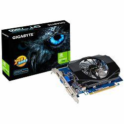 GIGABYTE Video Card GeForce GT 730 DDR3 2GB/64bit, 902MHz/1800MHz, PCI-E 2.0 x16, HDMI, DVI, VGA, Cooler(Double Slot), Retail