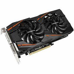 GIGABYTE Video Card AMD Radeon RX470 GAMING GDDR5 4GB/256bit, 1230MHz/6600MHz, PCI-E 3.0, 3xDP, HDMI, DVI-D, WINDFORCE 2X Cooler RGB(Double Slot), Backplate, Retail