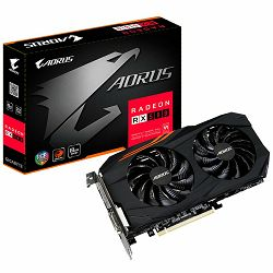 GIGABYTE Video Card AMD Radeon RX 580 AORUS EDITION GDDR5 8GB/256bit, 1365MHz/8000MHz, PCI-E 3.0, 3xDP, HDMI, DVI-D, WINDFORCE 2X Cooler RGB(Double Slot), Backplate, Retail