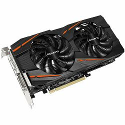 GIGABYTE Video Card AMD Radeon RX 580 GAMING GDDR5 4GB/256bit, 1340MHz/7000MHz, PCI-E 3.0, 3xDP, HDMI, DVI-D, WINDFORCE 2X Cooler RGB(Double Slot), Backplate, Retail