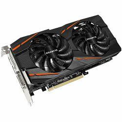 GIGABYTE Video Card AMD Radeon RX 580 GAMING GDDR5 4GB/256bit, 1340MHz/7000MHz, PCI-E 3.0, 3xDP, HDMI, DVI-D, WINDFORCE 2X Cooler RGB(Double Slot), Backplate, Retail