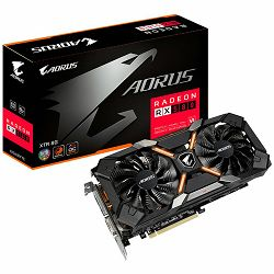 GIGABYTE Video Card AMD Radeon RX 580 AORUS XTREME EDITION GDDR5 8GB/256bit, 1425MHz/8000MHz, PCI-E 3.0, 3xDP, HDMI, DVI-D, WINDFORCE 2X Cooler RGB(Double Slot), Backplate, Retail